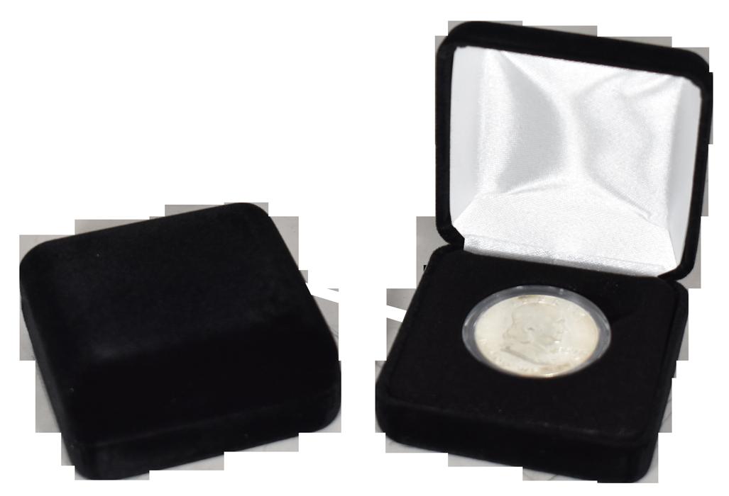 Velvet Coin Capsule Box ( M ) - Black