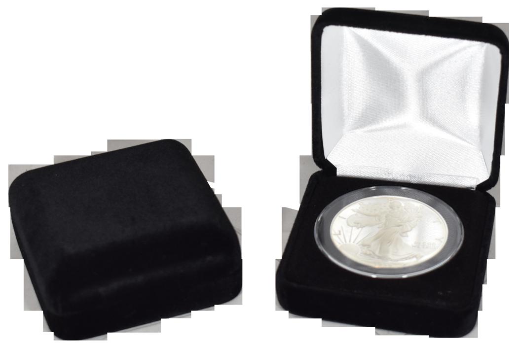 Velvet Coin Capsule Box ( XL ) - Black