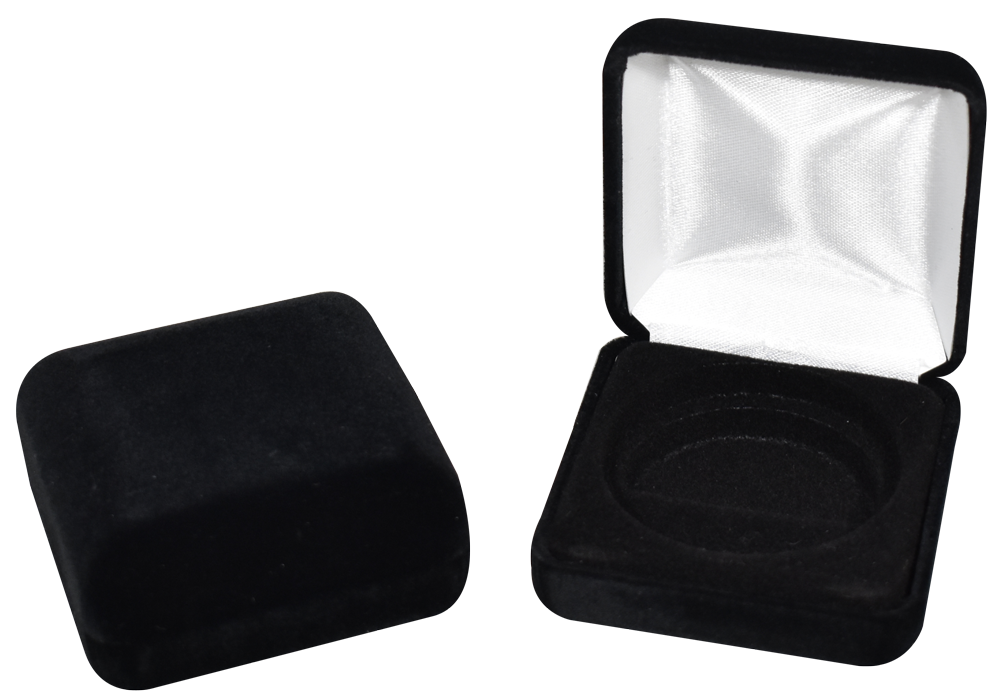 Black Velvet Coin Capsule Box - Holds a Model X Air-Tite Capsules