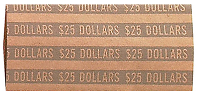 Flat Large Dollar Coin Wrappers - 1000 PK
