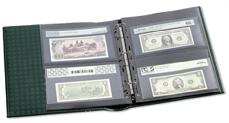 All Lighthouse Grande 2 Pocket Page Graded Currency Albums