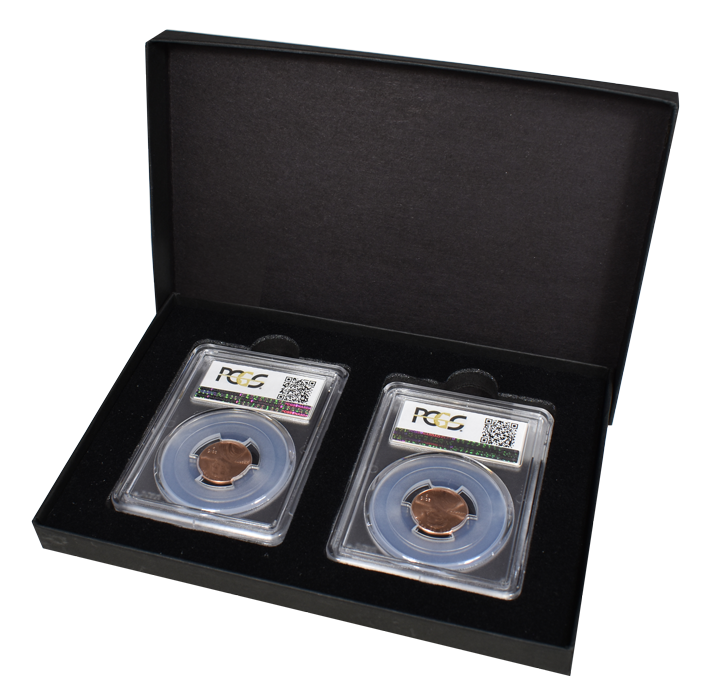 Two Slab Chipboard Certified Coin Gift Box