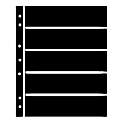 Hagner Stock Sheets 5 Row Black One Sided