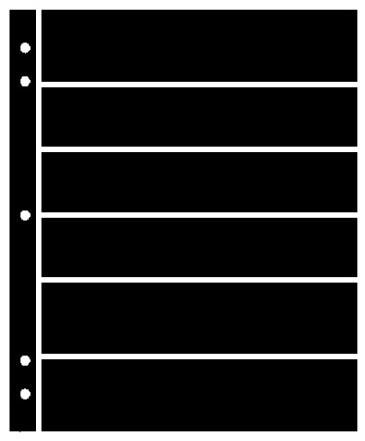 Supersafe Stocksheets 6 Rows 38mm, Black