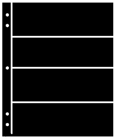 Supersafe Stocksheets 4 Rows 61mm, Black