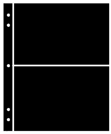 Supersafe Stocksheets 2 Rows 126mm, Black