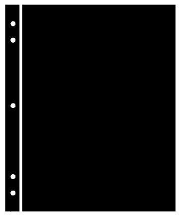 Supersafe Stocksheets 1 Row 263mm, Black