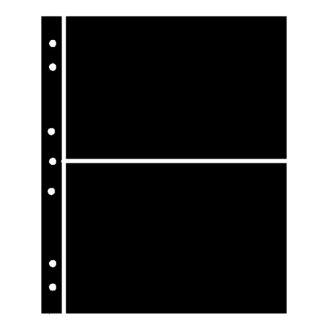 Hagner Stock Sheets 2 Rows Black One Sided