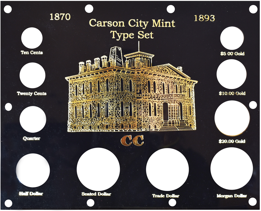 Capital Plastics 1870-1893 Carson City Mint Type Set