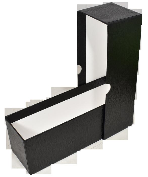 "Single Row Slab or Crown Box - 8.25"" - Black"