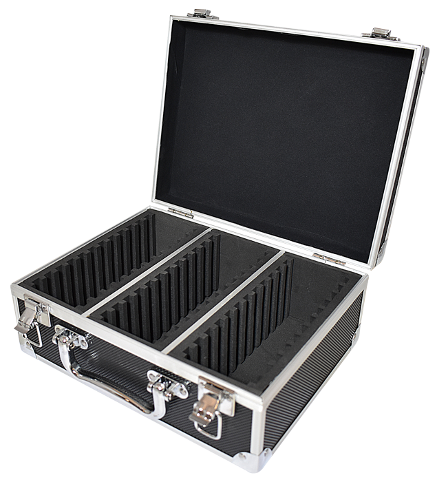 36 Slab Black Aluminum Box - Side Handle