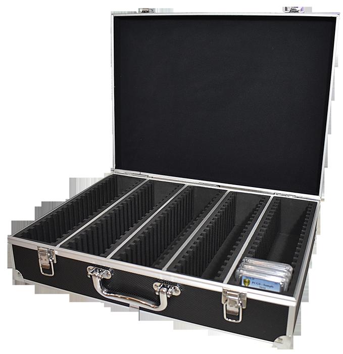 100 Slab Black Aluminum Box - Side Handle