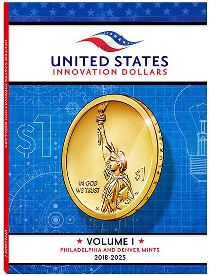 Whitman U.S. Innovation Dollar P&D Coin Folder 2018 - 2025