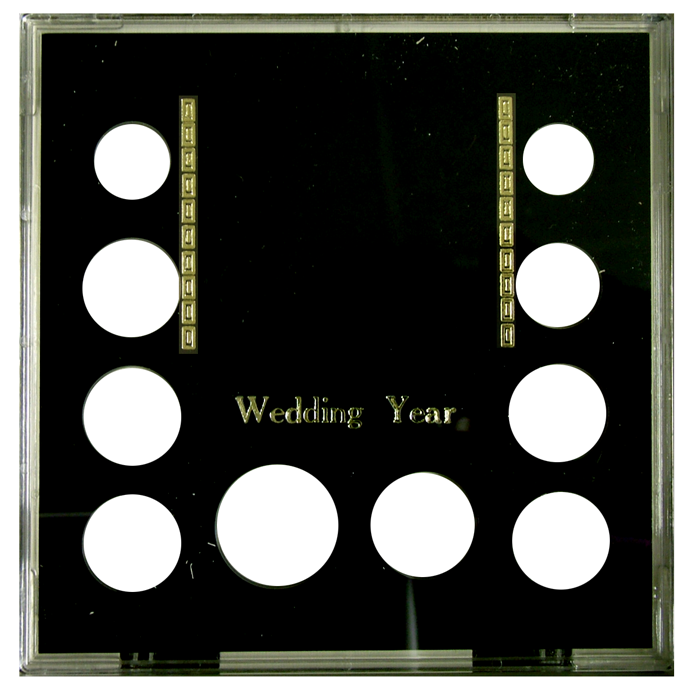 Wedding Year (Small $, .50, 5 Quarters, .10, .05, .01) Black