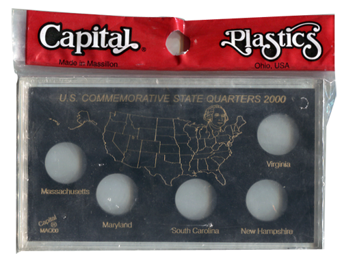 U.S. Commemorative State Quarters for 2000 - Black
