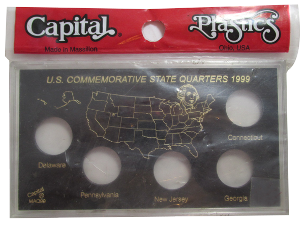 U.S. Commemorative State Quarters for 1999 - Black