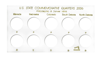U.S. State Commemorative Quarters for 2006 - White