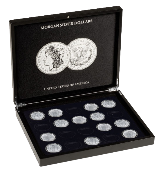 Morgan Silver Dollars Collectors Box