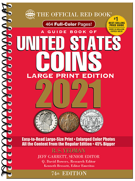 2021 Red Book Price Guide of United States Coins, Large Print - 783619