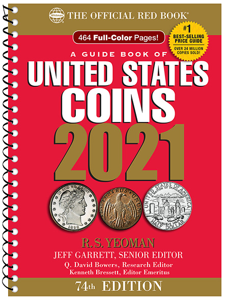 2021 Red Book Pricing Guide red book, coin grading guide, 2020 red book, whitman red book