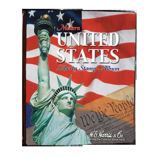 Modern United Stated Liberty Stamp Album. Empty Binder