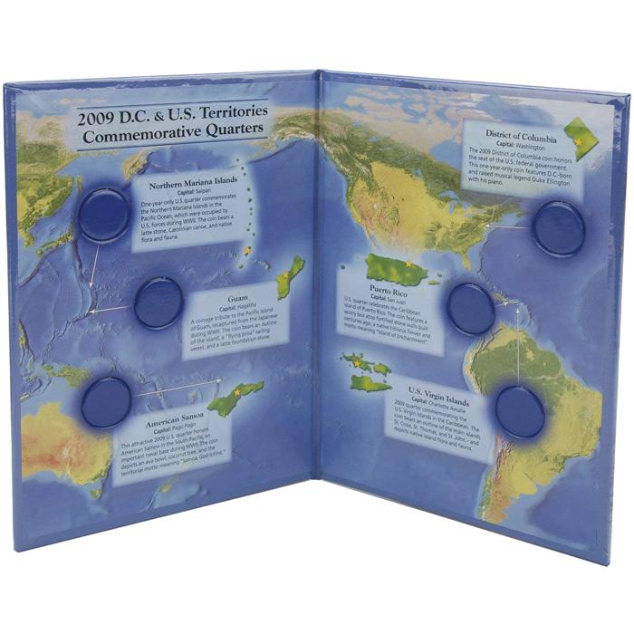 2009 DC & US Quarter Territories, Color Littleton Map