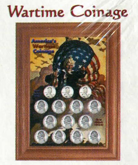 Edgar Marcus Holder for Wartime Coinage - Solid Oak Frame