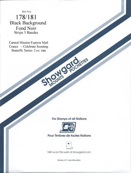 Showgard Mounts for Souvenir Sheets (Black)