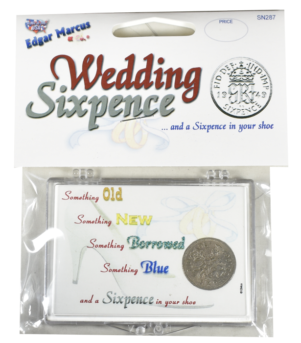 Wedding Sixpence - With Coin