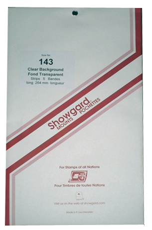 143 Showgard Stamp Mount Strips - 264 mm (Clear)