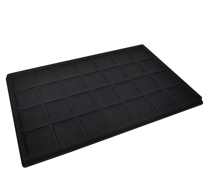 Universal Display Tray for 2 x 2 Coin Flips - Black