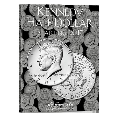 H.E. Harris Kennedy Half Dollar Coin Folder 2017 - 2021