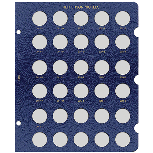 Whitman Jefferson Nickels Album Page 2012 - 2021
