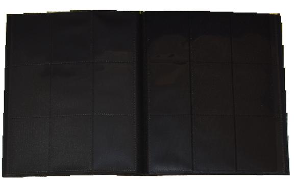 9 PKT Trading Card Folio - Black - 783739