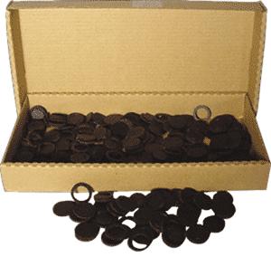 14mm Air Tite Black Rings - Bulk Pack 250 14mm Air Tite Black Ring Bulk Pack, Air Tite, Model A