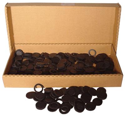 18mm Air Tite Black Rings - Bulk Pack 250 18mm Air Tite Black Ring Bulk Pack, Air Tite, Model A