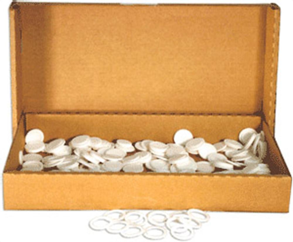 21mm Air Tite White Rings - Bulk Pack 250 21mm Air Tite White Ring Bulk Pack, Air Tite, Model T