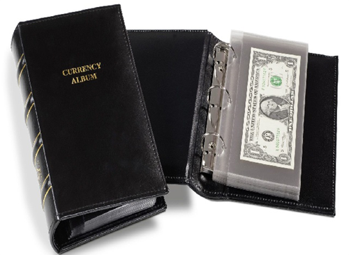 Lighthouse Classic Single Pocket Currency Album for Modern Notes