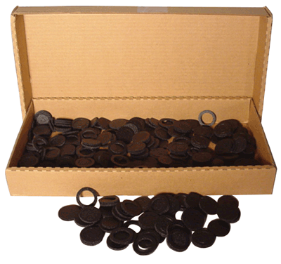 38mm Air Tite Black Rings - Bulk Pack 250 38mm Air Tite Black Ring Bulk Pack, Air Tite, Model I