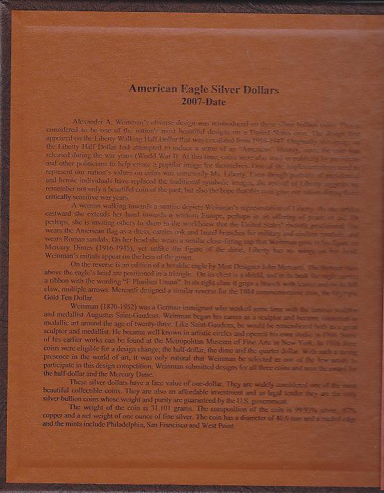 Dansco American Silver Eagle Dollars w/ Proof 8182 - 23713