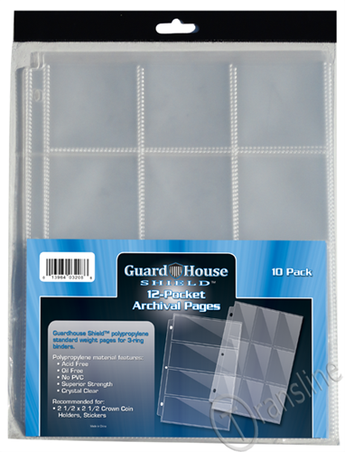 Guardhouse Twelve-Pocket Polypropylene Pages 10 Pack