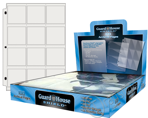 Guardhouse Twelve-Pocket Polypropylene Pages 100 Count Box