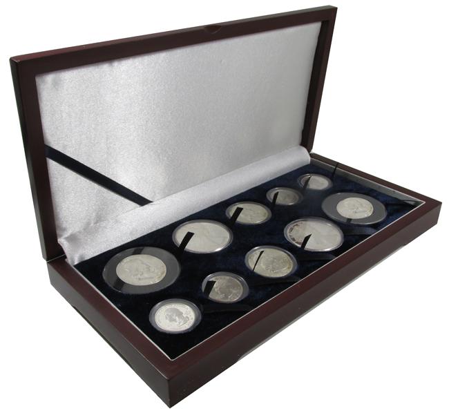 Guardhouse Wood Display Box -GH-W1400: U.S. Gold Type Sets (4S,2M,2L,2XL)