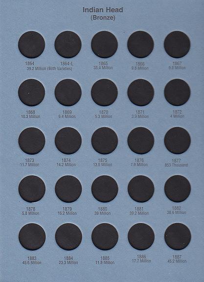 Whitman Coin Folder Indian Head Cent - 21840