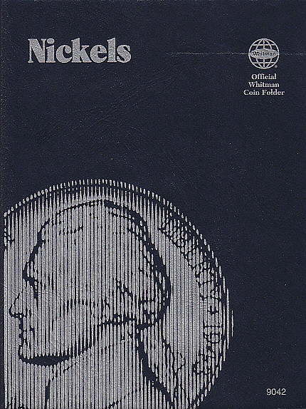 Whitman Nickel Plain Coin Folder - No Dates Printed