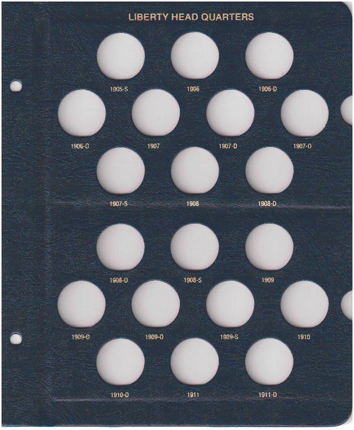 Barber Quarters Whitman Coin Album - 22296