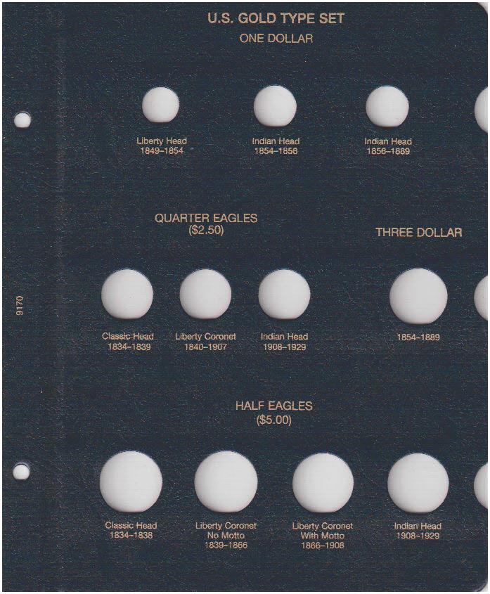 U.S. Gold Type Set Whitman Coin Album - 22472