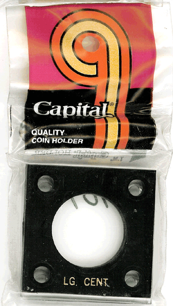 Large Cent Capital Plastics Coin Holder 144 Type Black 2x2 Large Cent Capital Plastics Coin Holder 144 Type Black, Capital, 144