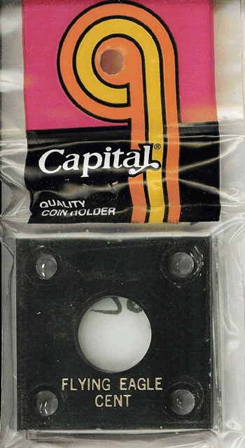 Flying Eagle Capital Plastics Coin Holder 144 Type Black 2x2 Flying Eagle Capital Plastics Coin Holder 144 Type Black, Capital, 144
