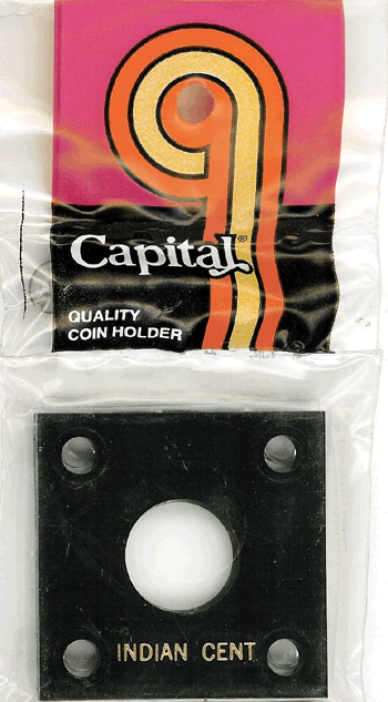 Indian Cent Capital Plastics Coin Holder 144 Type Black 2x2 Indian Cent Capital Plastics Coin Holder 144 Type Black, Capital, 144